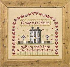 Grandma's House Counted Cross Stitch Kit - Cross Stitch Kits - Cross Stitch & Needlecrafts - Crafts THW
