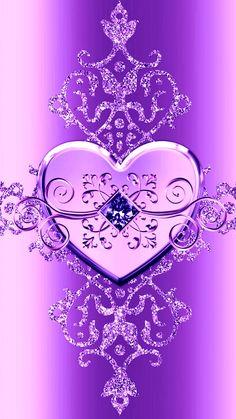 Heart Iphone Wallpaper, Bling Wallpaper, Pretty Phone Wallpaper, Skull Wallpaper, Purple Wallpaper, Purple Backgrounds, Cellphone Wallpaper, Pretty Wallpapers, Galaxy Wallpaper