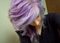 purple hair lilac hair
