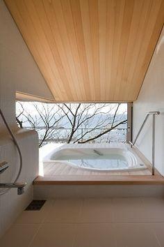 Minimal & serene spa area. Nice architecture