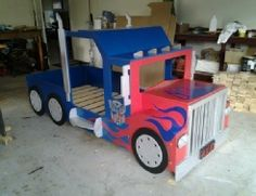 Transformers - Bespoke by Baker - The home of handmade childrens theme beds & playhouses Play Beds, Kid Beds, Kids Truck Bed, Bedroom Themes, Kids Bedroom, Cool Beds For Kids, Childrens Beds, Bed Plans, Bed Design
