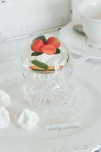 Marmeladendose Marmeladenglas Marmeladentopf Erdbeere Acryltopf Shabby Chic