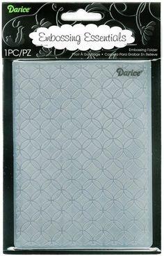 Darice Embossing Folder (Size A2) - Circle Interlock,$4.99