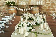 Shabby chic Tuscan table  www.originaluscan wedding.com
