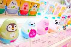 Hand creams from etude house!  Super cute packaging design