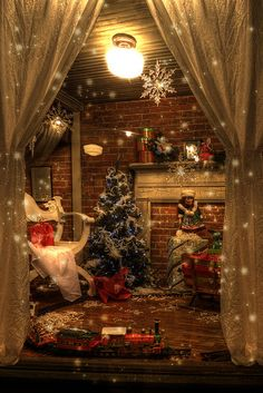 I hope I am fortunate enough to have a house similar to this around Christmas time in the future!