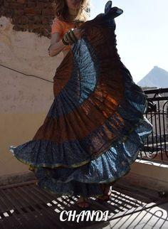 india Skirt boho freepeople style gypsy tribal fusion bellydance banjara 25 yard Ruffle Skirt, Dress Skirt, Ruffles, Flamenco Skirt, Indian Skirt, Gypsy Life, Gypsy Skirt, Long Skirts, Gypsy Style