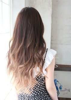 Light Brown Dip-Dyed Hair