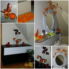 Bath fall decor