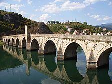 Mehmed Paša Sokolović Bridge inscribed at UNESCO, built by Sinan in Višegrad, Bosnia. Love Bridge, Arch Bridge, Monumental Architecture, Civil Engineering, Bosnia And Herzegovina, Albania, Macedonia, Slovenia, World Heritage Sites