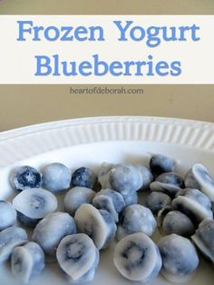 Frozen Yogurt Blueberry Recipe - The perfect snacks for kids and adults! Easy to do, sweet tasting, and healthy - Heart of Deborah #recipes #healthy Check out more recipes like this! Visit http://yumpinrecipes.com/