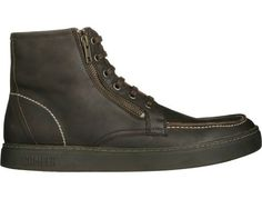 K3 comes as a brown lace up high-cut shoe made of nubuck leather.