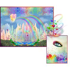 I See Rainbows, created by telynor on Polyvore