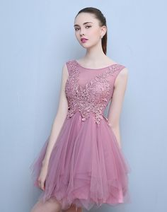 Rochie scurta Eveline lila Formal Dresses, Floral, Fashion, Tulle, Embroidery, Dresses For Formal, Moda, Formal Gowns, Fashion Styles