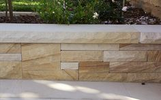 As Australia's leading supplier of sandstone retaining walls Gosford Quarries has what you need at the right price. For retaining wall supplier in Melbourne, Call 8585 Retaining Wall Fence, Landscaping Retaining Walls, Landscaping Ideas, Garden Yard Ideas, Backyard Garden Design, Backyard Ideas, Fence Ideas, Pool Ideas, Backyard Patio