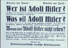 NSDAP poster about who Hitler is