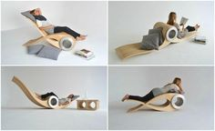 Transforming Chair Lets You Rest In Different Positions For Maximum Comfort - DesignTAXI.com