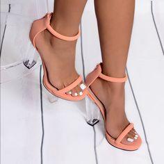 Kickly – Chaussure Mode Escarpin Sandale Stiletto cheville femmes Métallique Talon aiguille haut talon 11 CM – RoseOr