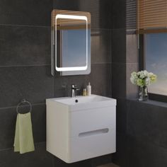 Quaser Illuminated LED Bathroom Mirror 1 Year Warranty Energy efficient LED lighting with rating Sensor controlled with demister pad to ensure the mirror remains steam free Vertical & Horizontal fitting options Includes: Mirror, Ikea Bathroom, Bathrooms, Led Mirror, Mirrors, Mirror Cabinets, Vanity, Furniture, Taps, Toilet