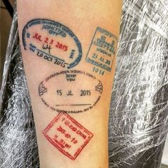 13 Amazing Travel-Inspired Tattoos #refinery29 http://www.refinery29.com/travel-inspired-tattoos#slide-8 She takes her passport everywhere. ...