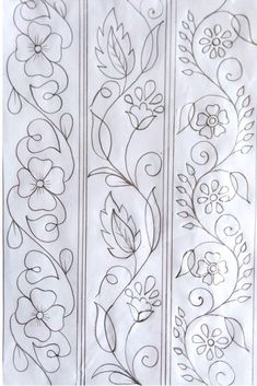 Hand Embroidery Pattern, Hand Drawing Design, Nakshi Katha Design Kantar Design, Hand Drawing D.