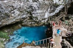 Hoyo Azul & Cave Tour Cave Expedition, Hiking, water splashing