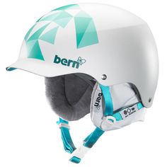 BERN MUSE HARD HAT HELMET The Muse is a classic womens helmet form Bern the originators of peaked or visor helmets. The muse is back for 2014 with some great improvements such as a whole new hard wearing cordova liner, new satin finish which feels and looks great #snowboard #womenssnowboardhelmet #bernmusehardhathelmet #colourwhite