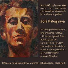 Pripomíname si 120 rokov od narodenia významného slovenského maliara a grafika Zola Palugyaya. Painting, Art, Painting Art, Paintings, Kunst, Paint, Draw, Art Education, Artworks