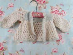 1940's Baby Sweater Crocheted by Hand