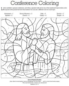 LDS Games - Color Time - General Conference Coloring   Church ...