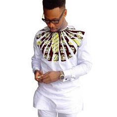 African Shirts For Men Dashiki Patchwork O-Neck Kitenge Shirts African Clothing Item Type: Dashiki Shirts, Kitenge Shirts Style: Fashion Pattern Type: Patchwork Collar: O-Neck Material: Cotton Dashiki Shirt, African American Fashion, African Fashion Dresses, African Fashion For Men, African Attire For Men, Ankara Fashion, African Wear, African Dress, African Style