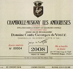 2008 Vogue ChambolleMusigny Les Amoureuses 1er Cru Burgundy 750 mL * Visit the image link more details. (This is an affiliate link)