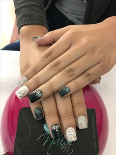 Acrylic nails, Christmas nails, nails art