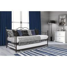 DHP has managed to rack up a number of positions among the best Full Size Daybeds With Trundle. Its top product, which we also recommend is the DHP Manila Metal Daybed and Trundle. Everything about this daybed is very convenient. Daybed With Trundle, Twin Size Bedding, Bedding Sets, Bed, Daybed, Furniture, Luxury Bedding, Bedroom Furniture, Modern Bedroom Furniture