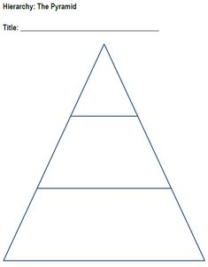 Blank Pyramid Charts - Free Printable Graphic Organizers for Teachers ...