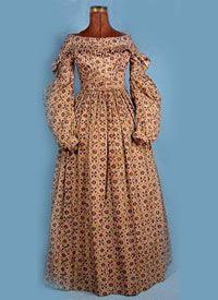 ca 1837 Cotton Roller Print Dress - courtesy Deborah Burke, antiquedress.com