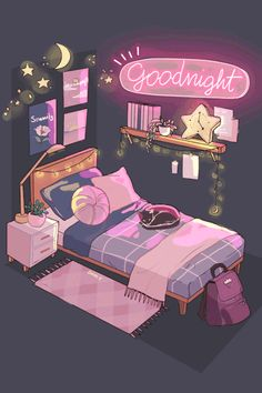 Find images and videos about cute, art and inspiration on We Heart It - the app to get lost in what you love. Art And Illustration, Landscape Illustration, Art Illustrations, Aesthetic Art, Aesthetic Anime, Aesthetic Bedroom, Aesthetic Drawing, Cute Wallpapers, Wallpaper Backgrounds