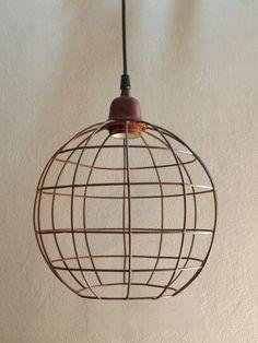 Casa Luminosa Lampara Colgante de alambre & hierro