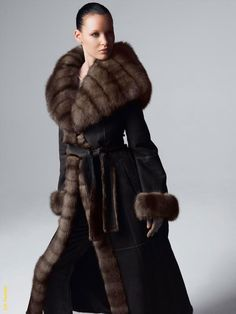 I have this exact style shearling except mine is trimmed in mink.