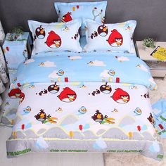Angry birds bedding sets 4 pieces blue  $82.00