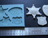 Police badges Silicone Mold for Chocolate & fondant