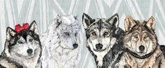 Wolf Family Portrait Art Print by Sandra Dieckmann - X-Small Graphic Design Illustration, Illustration Art, Graphic Art, Sandra Dieckmann, Portrait Art, Spirit Animal, Family Portraits, Natural, Illustrations Posters