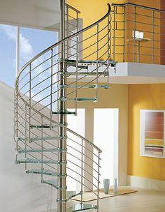 arquitectura escalera caracol aluminio