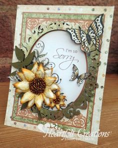 New DIY Crafty Projects for a Happy Fall! | Blog Post Sunflower Cards, Sorry Cards, Heartfelt Creations Cards, Spellbinders Cards, Fancy Fold Cards, Get Well Cards, Expressions Of Sympathy, Die Cut Cards, Creation Crafts