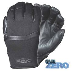 """DZ9 : SubZERO™ - The """"ULTIMATE"""" cold weather gloves• A Damascus® original design concept featuring a unique multi-layer system• Guaranteed to keep your hands warm from any temperature to subzero temperatures• Performance articulated pre-curved design to maximize hand comfort and fit• Full leather palm • Nylon Lycra® stretch panels on backs of hands • Neoprene at wrist• Adjustable Velcro® wrist closure• Patent pending"""
