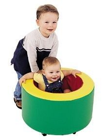 """The Single Tubmobile can provide plenty of laughs and enjoyment for two children. Dimensions: 22"""" diameter x 12-1/2"""" high e.g $125.95 http://www.sensoryedge.com/situ.html"""
