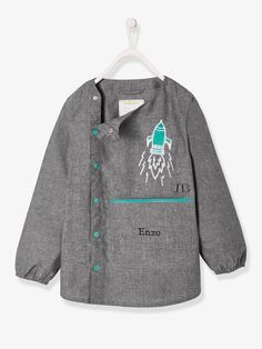 Boys-Accessories-School supplies-smock in chambray for boys Sewing Patterns For Kids, Sewing For Kids, Baby Sewing, Chambray, Boys Pencil Case, Sous Pull, Boys Accessories, Legging, Pulls