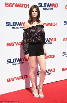 The beautiful actress, who plays Summer Quinn in the upcoming summer comedy Baywatch, appeared at the Los Angeles event Slow Mo Marathon Saturday, in promotion for the upcoming film. Alexandra Daddario Images, 10 Most Beautiful Women, Matthew Daddario, Bridal Makeup Looks, Baywatch, Beautiful Actresses, Beautiful Celebrities, Just Girl Things, The Bikini
