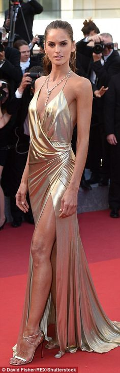 69th CANNES FILM FESTIVAL IZABEL GOULART. They matched her breathtaking gown...