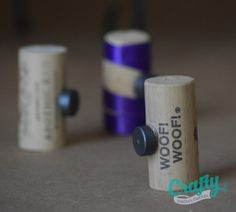 Wine Cork Magnets - DIY wedding favors! http://craftymothertrucker.com